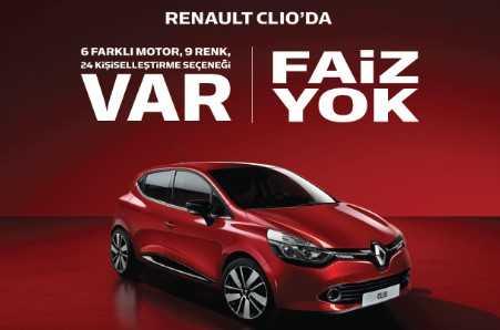 renault faizsiz araç kredisi kampanyası - Sıfır Faizli Otomobil Kampanyaları (2017 ve 2018 Modeller)